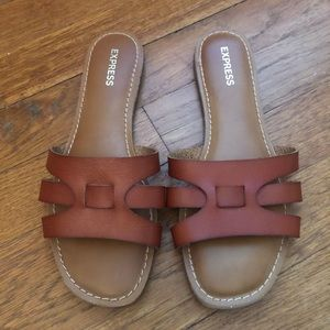 Express Cognac Leather Sandals
